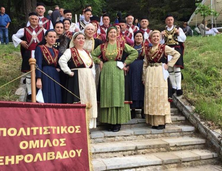 Το Χορευτικό Συγκρότημα του Πολιτιστικού Ομίλου Ξηρολιβάδου στο Πισοδέρι
